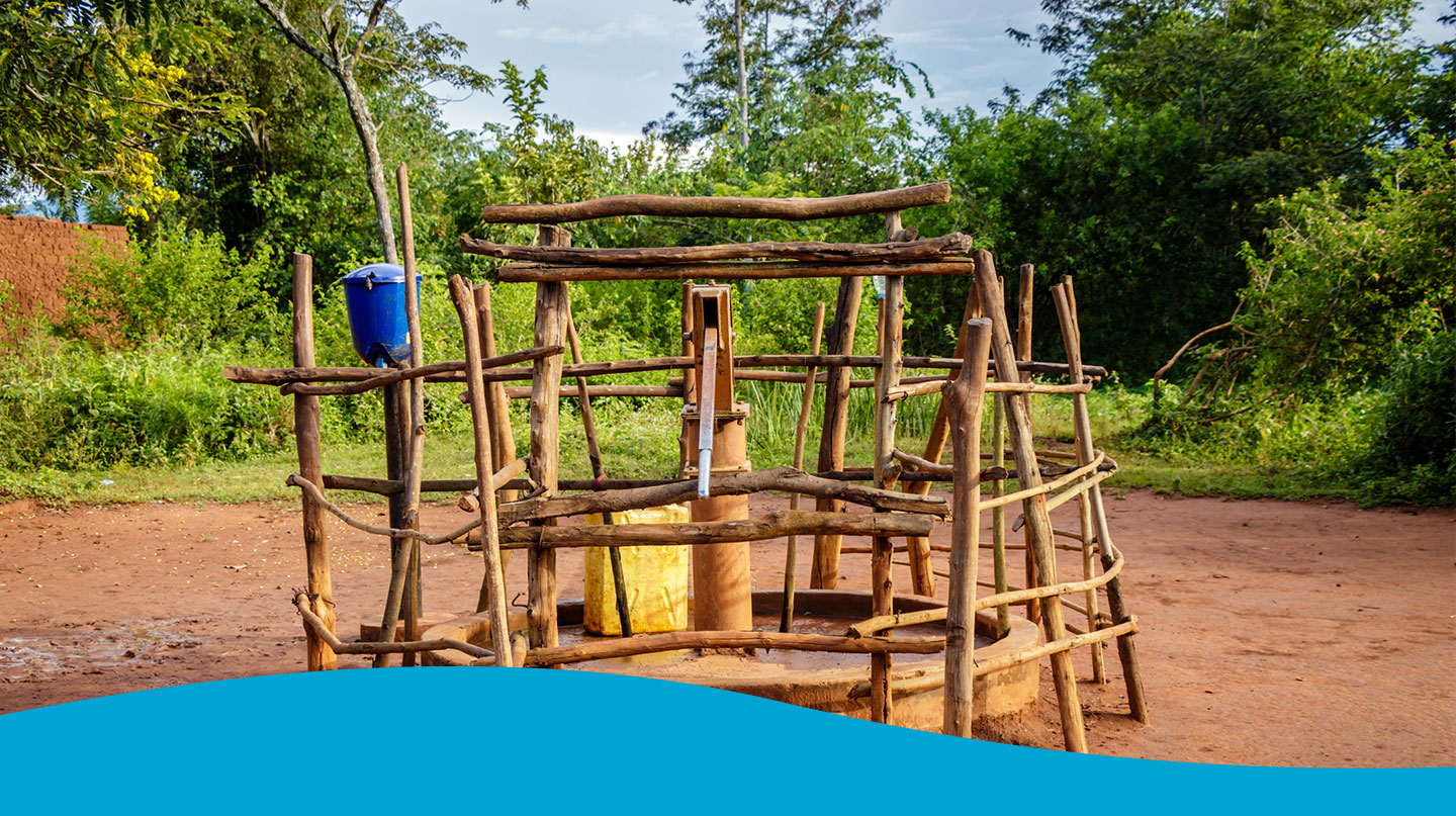 handmade water well in south america